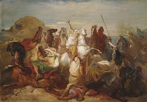 Théodore Chassériau - Arab combat