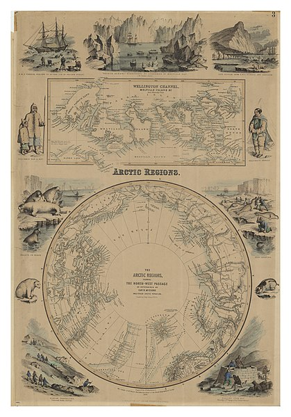 The Arctic Regions, showing the North-West Passage as determined by Cap. R. McClure and other Arctic Voyagers. 1856.