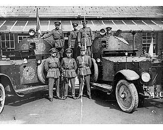 Rolls-Royce Armoured Car - Two of thirteen Rolls-Royce armoured cars used during the Irish Civil War: The Fighting 2nd (ARR3) and The Big Fella (ARR8)