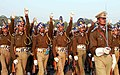 The CRPF marching contingent passes through the Rajpath during the rehearsal for the celebration of 60th Republic Day -2009, in New Delhi on January 09, 2009.jpg