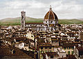 The Cathedral panoramic view from Vecchio Palace Florence Italy.jpg