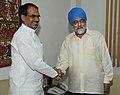 The Chief Minister of Madhya Pradesh, Shri Shivraj Singh Chouhan meeting the Deputy Chairman, Planning Commission, Shri Montek Singh Ahluwalia to finalize Annual Plan 2010-11 of the State, in New Delhi on June 11, 2010.jpg