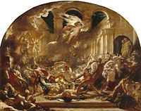 The Destroying Angel and Daemons of Evil Interrupting the Orgies of the Vicious and Intemperate, William Etty, 1832.jpg
