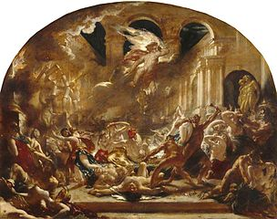 The Destroying Angel and Daemons of Evil Interrupting the Orgies of the Vicious and Intemperate