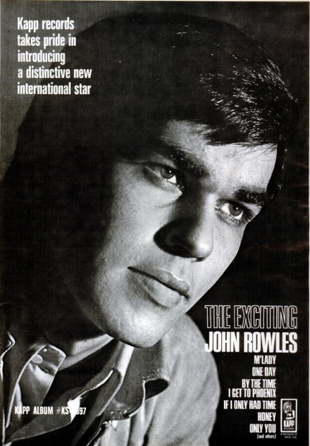 John Rowles in 1969 The Exciting John Rowles, May 1969.png
