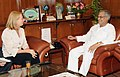 The Federal Minister of Transport, Innovation and Technology, Austria, Mrs. Doris Bures meeting the Union Minister for Road Transport & Highways and Railways, Dr. C.P. Joshi, in New Delhi on October 01, 2012.jpg