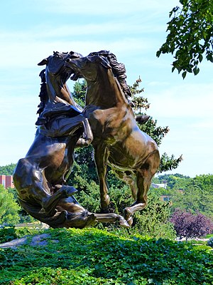 South Dakota State Capitol - The Fighting Stallions Memorial