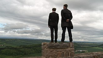 The Future of Art - Niermann and Niedling on the battlements of Castle Wachsenburg in Thuringia