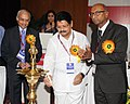The Minister of State for Road Transport & Highways, Shri Sarvey Sathyanarayana lighting the lamp to inaugurate the 200th Mid-Term Council Meeting of Indian Roads Congress, in New Delhi on August 11, 2013.jpg