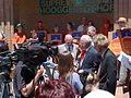 The Orania Beweging in front of the Kimberley High Court to campaign for the town's municipal status.jpg