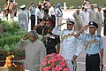 The President, Dr. A.P.J. Abdul Kalam with the Chiefs of Defence forces saluting to martyrs at Amar Jyoti at India Gate on the occasion of 60th Independence Day in New Delhi on August 15, 2006.jpg