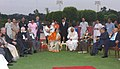 The President, Smt. Pratibha Devisingh Patil at the 'At Home' in honour of the member of executive committee CWP, Steering Committee Small Countries Conference, in New Delhi on September 25, 2007.jpg