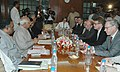 The Prime Minister of Finland, Mr. Matti Vanhanen at a meeting with the Speaker of Lok Sabha, Shri Somnath Chatterjee, in New Delhi on March 14, 2006.jpg