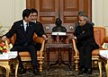 The Prime Minister of Japan and Chief Guest of Republic Day, Mr. Shinzo Abe Calls on the President, Shri Pranab Mukherjee, at Rashtrapati Bhavan, in New Delhi on January 25, 2014.jpg