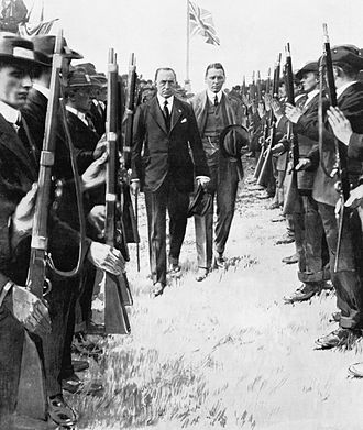 Ulster Unionist Party - Carson inspecting the UVF, F.E.Smith walking behind him, pre-1914