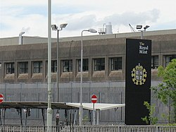 Exterior of the Royal Mint building located in Llantrisant, Wales