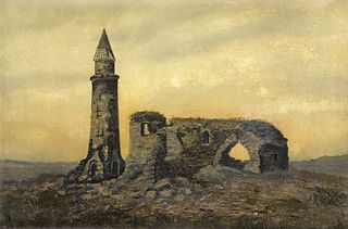 The Ruins of the Khan's Tomb and the Small Minaret in Bulgaria