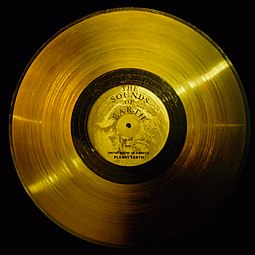 Voyager Golden Record Record containing information from Earth