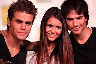 Ian Somerhalder - Paul Wesley, Nina Dobrev and Somerhalder in 2012