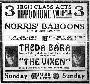 The Vixen - Contemporary newspaper advertisement.