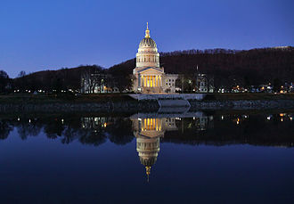 West Virginia State Capitol - The capitol from across the Kanawha River