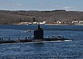 The attack submarine USS Alexandria (SSN 757) returns to Groton, Conn., April 3, 2013, from a six-month deployment 130403-N-TN558-007.jpg