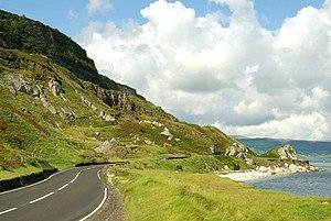 Antrim Coast and Glens - The Antrim coast road near Glenarm