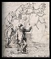The evolution of a muzzled bear chained to a post into a thu Wellcome V0011249.jpg