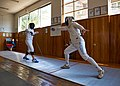 The fencers Eleanna Gousi and Nikos Katsinis at Athenaikos Fencing Club.jpg