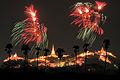 The greatest firework scene over Phranakornkiri Historical Park, Petchburi, Thailand.jpg