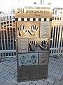 The handprint reliefs of 2014 FIA Formula One World Championship JAPANESE GRAND PRIX SUZUKA drivers' in front of Kintetsu Shiroko station.jpg