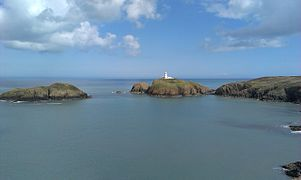 The lighthouse at Strumble Head