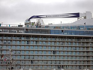 MS Quantum of the Seas - The Quantum of the Seas with crane and hinged glass  capsule