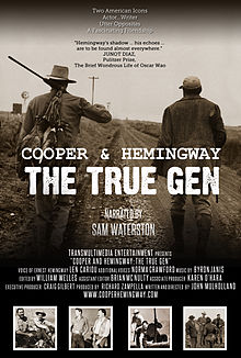 The official movie poster for COOPER AND HEMINGWAY THE TRUEGEN documentary film.jpg