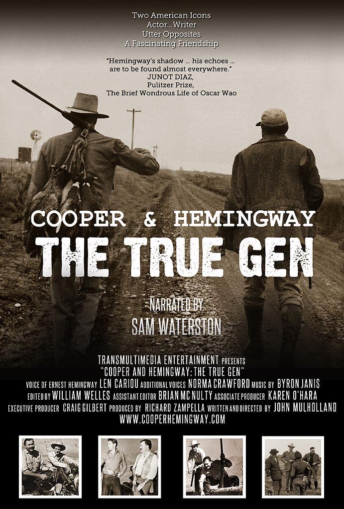 FileThe Official Movie Poster For COOPER AND HEMINGWAY THE TRUEGEN Documentary Film