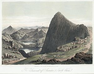 The summit of Snowdon, (north Wales)