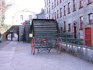 Jameson Experience, Midleton - An iron waterwheel, installed in 1852, was used to drive malt grinding stones at the distillery.