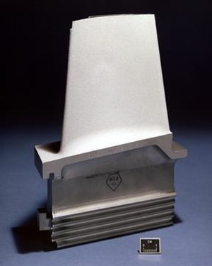 Turbine blade - A turbine blade with thermal barrier coating.