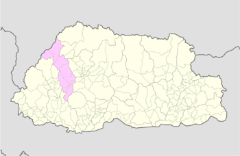 Location of Gengye Gewog