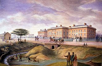 Upper Canada - The third Parliament Building in York was built between 1829 and 1832 at Front Street.