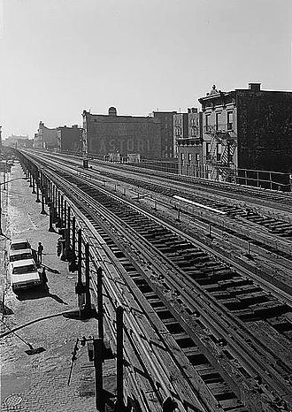 IRT Third Avenue Line - Third Avenue El, looking south from 169th Street shortly before the Bronx portion was demolished.