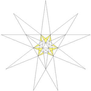 Compound of ten tetrahedra - Image: Third compound stellation of icosahedron facets