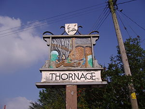 Thornage - Image: Thornage Village Sign 30 August 2008