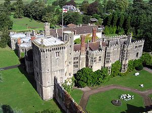 Thornbury Castle - The Castle seen from the top of St Mary's Church tower