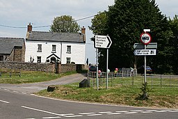 Three Crosses, farmhouse by road junction - geograph.org.uk - 185081.jpg