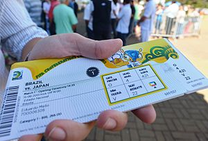 2013 FIFA Confederations Cup - A ticket for the competition's opening match in Brasília