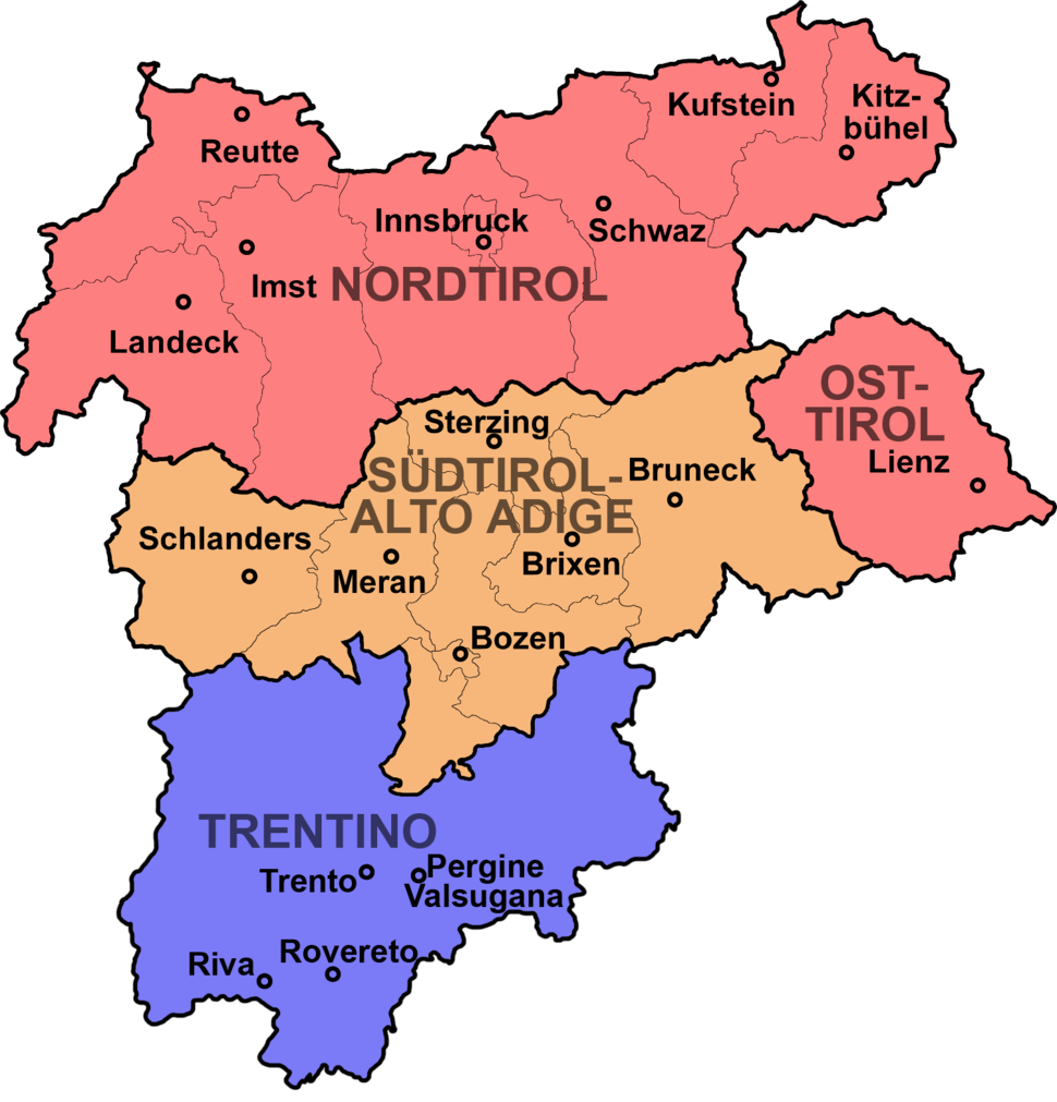 Tirol-Suedtirol-Trentino