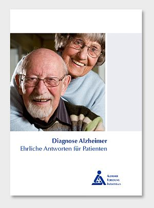 "Title of brochure ""Diagnose Alzheimer - E..."