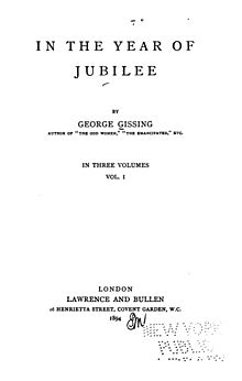 Title page of the first edition of In the Year of Jubilee.jpg