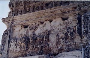 Arc of Titus; attributes of the Jerusalem temp...